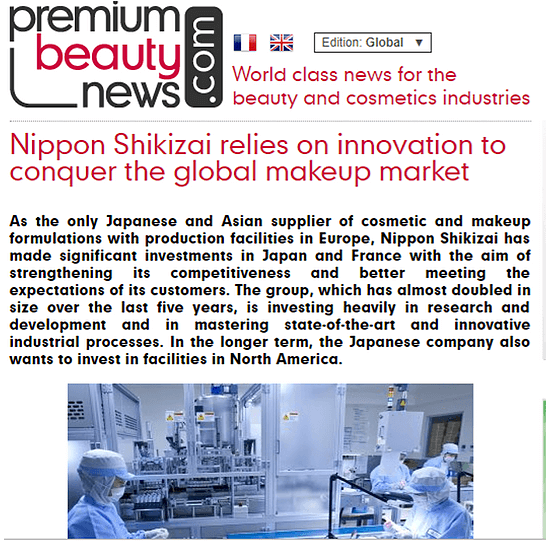 nippon shikizai group in premium beauty news